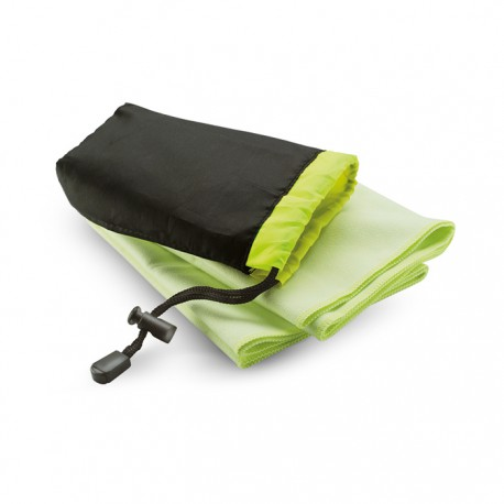 DRYE - Sports towel presented in nylon pouch
