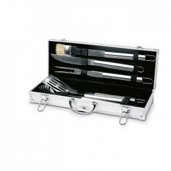 ASADOR - Aluminium suitcase includes 5 indispensable stainless steel BBQtools.