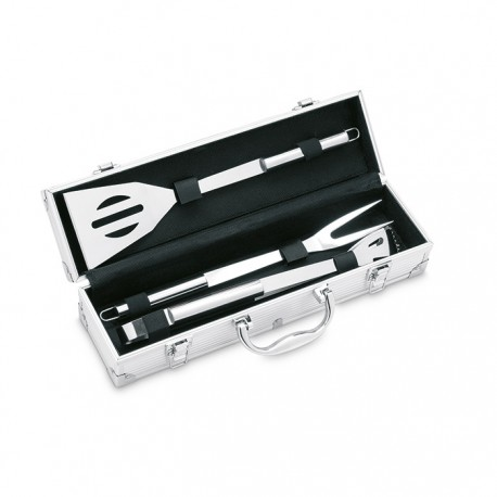 ASADOR - Aluminium suitcase includes 3 stainless steel BBQ tools