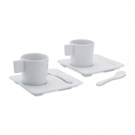 CAFE FLORE - 2 piece porcelain espresso set with cups