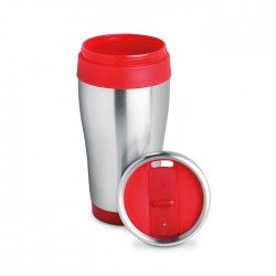 Double wall stainless steel travel cup