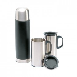 ISOSET - Double wall stainless steel insulating vaccum flask