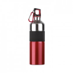 Bicolour stainless steel bottle with rubber grip
