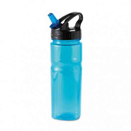 NINA - Plastic bottle including foldable straw