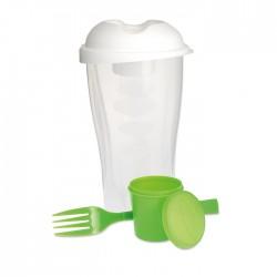 Plastic salad shaker