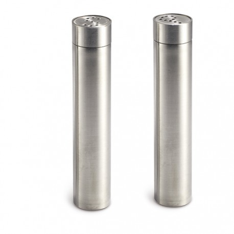 SAPE - Stainless steel salt and pepper set.