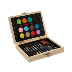 Mini artist's set in wooden box