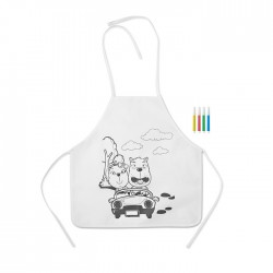 Kid's Apron with 4 Sketch Pens