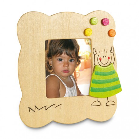 PICTO - Wooden picture frame with childish decoration