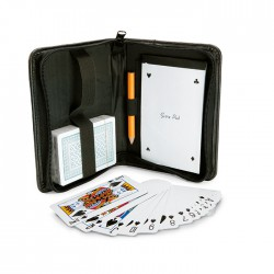 Playing card set with notebook and pencil