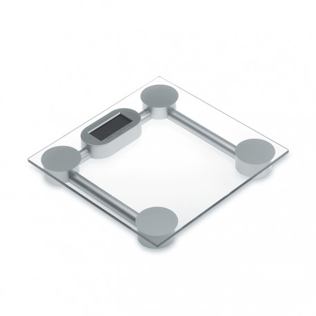 BONJOUR - Elegant electronic scale in tempered security glass with LCD display
