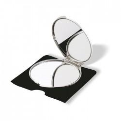 Aluminium make-up mirror