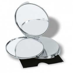 Chrome plated metal make-up mirror
