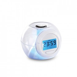 7 colour changing mood light alarm clock