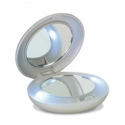 Make-up mirror with white LED light