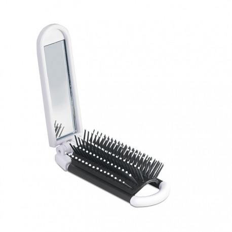 ALWAYS - Foldable hairbrush with mirror