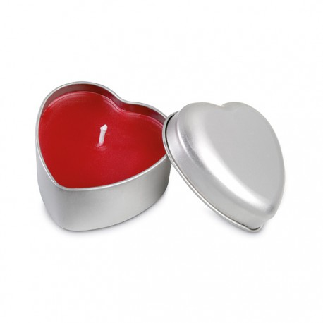 CORALUZ - Heart shaped red colour candle
