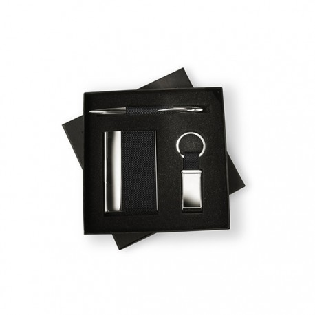 BOXNESS - Business gift set including a metal twist ball pen