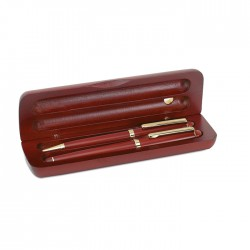 S-JOUR - Gift set with wood ball pen and fountain pen
