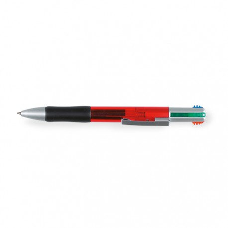 BONLES - Push type plastic ball pen with 4 colour inks