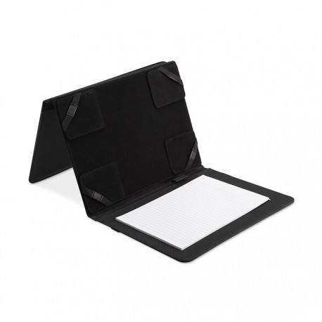 NATE - 600D polyester and PU A5 portfolio with tablet compartment