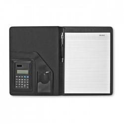 A4 portfolio with solar powered calculator