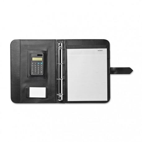 FOLDAX - Imitation leather A4 portfolio with calculator