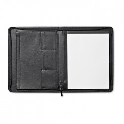 CONFERENCE - Zipped A4 size portfolio with leather cover