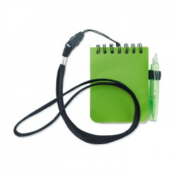 Notepad with Pen and Lanyard