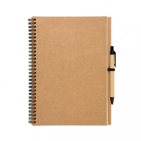 BLOQUERO PLUS - Black or natural brown covered notebook with 70 pages