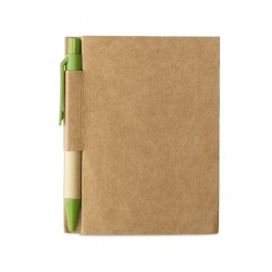 Compact notepad with pen