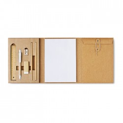 Stationery set with 8 pieces in folder