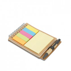 MULTIBOOK - Recycled notebook containing 5 sticky multi- coloured tabs