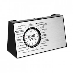 SPINNING - Spinning desk World time clock with card holder on the reverse side