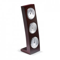 CLASSIC - Vertical wooden stand with clock