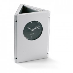 Foldable desk quartz clock with 2 photo frames