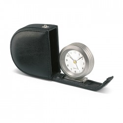 MONTY - Alarm clock in leather pouch