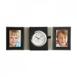 Travel Clock with Photo Pockets