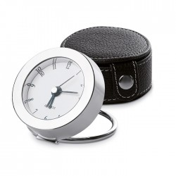 Travel clock with metal frame
