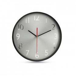 Large wall clock with aluminium dial and hands