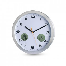 MAINE - Analogue wall clock in aluminium casing