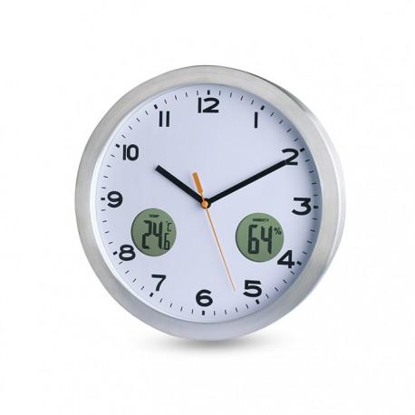 MAINE - Analogue wall clock in aluminium casing