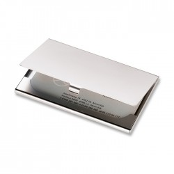Imitation chrome business card holder