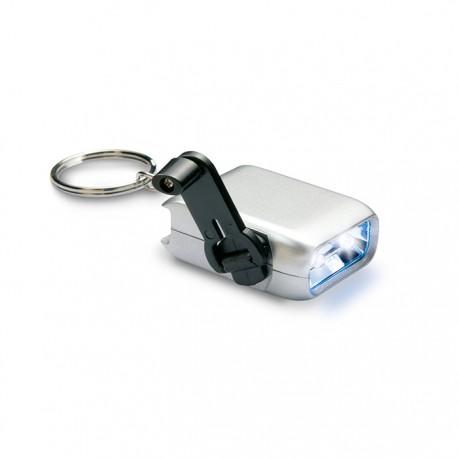 NADIO - 2 LED dynamo mini torch with key ring