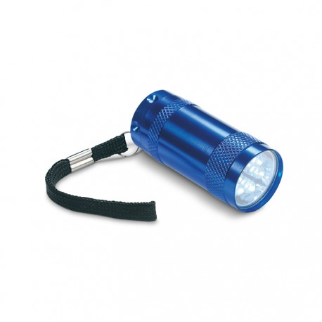 TEXAS - 6 LED lights aluminium mini torch with hand strap