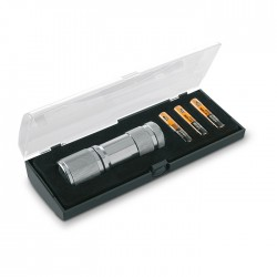 Compact metal torch including 9 LED white lights