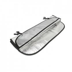 OMBRA - Foldable sun car visor in aluminium foil with 2 elastic bands
