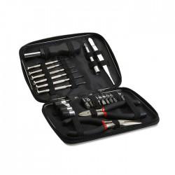 Tool set presented in aluminium case