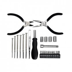 INGENIO - Tool set including 25 essential tools incl pliers