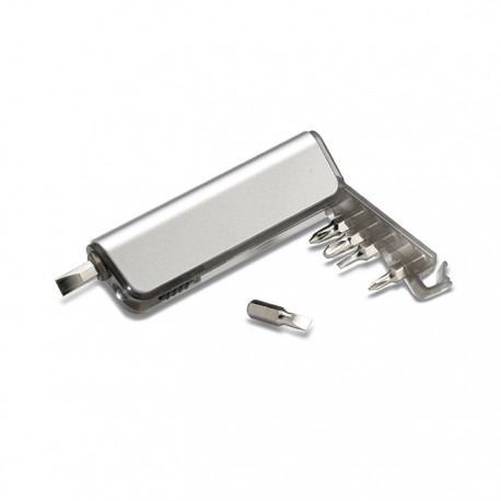 ALUTOOL - Multi-tool holder and LED torch in ABS casing with metallic finish